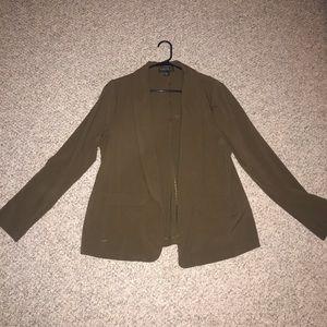 Forever 21 + plus size army green blazer